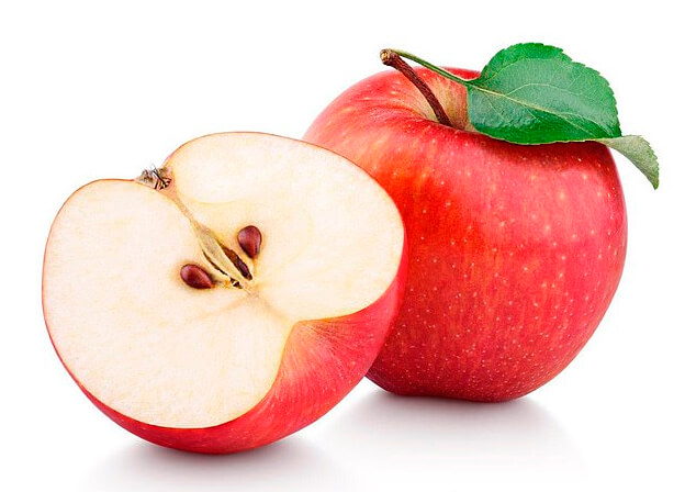 red apples cut